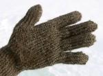 raw wool glove, llama sheep blend
