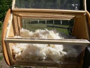 cleaning alpaca fibre