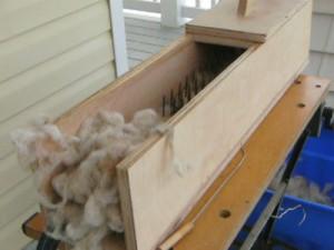 picking wool, picking fleece,