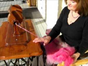indian head spinning wheel, spinning tutorial, treadle sewing machine spinning wheel