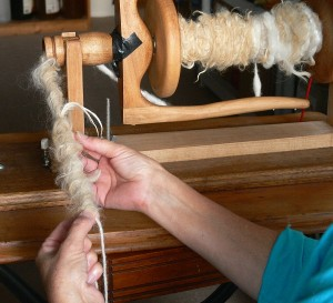spinning art yarn for texture