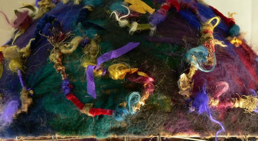 art yarn, spinning fabric