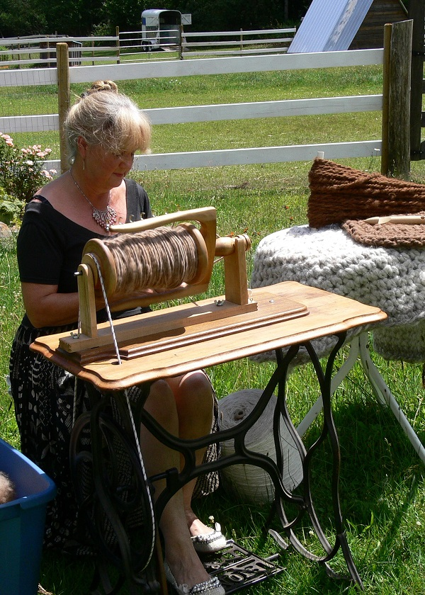 how to spin heavy rug yarn